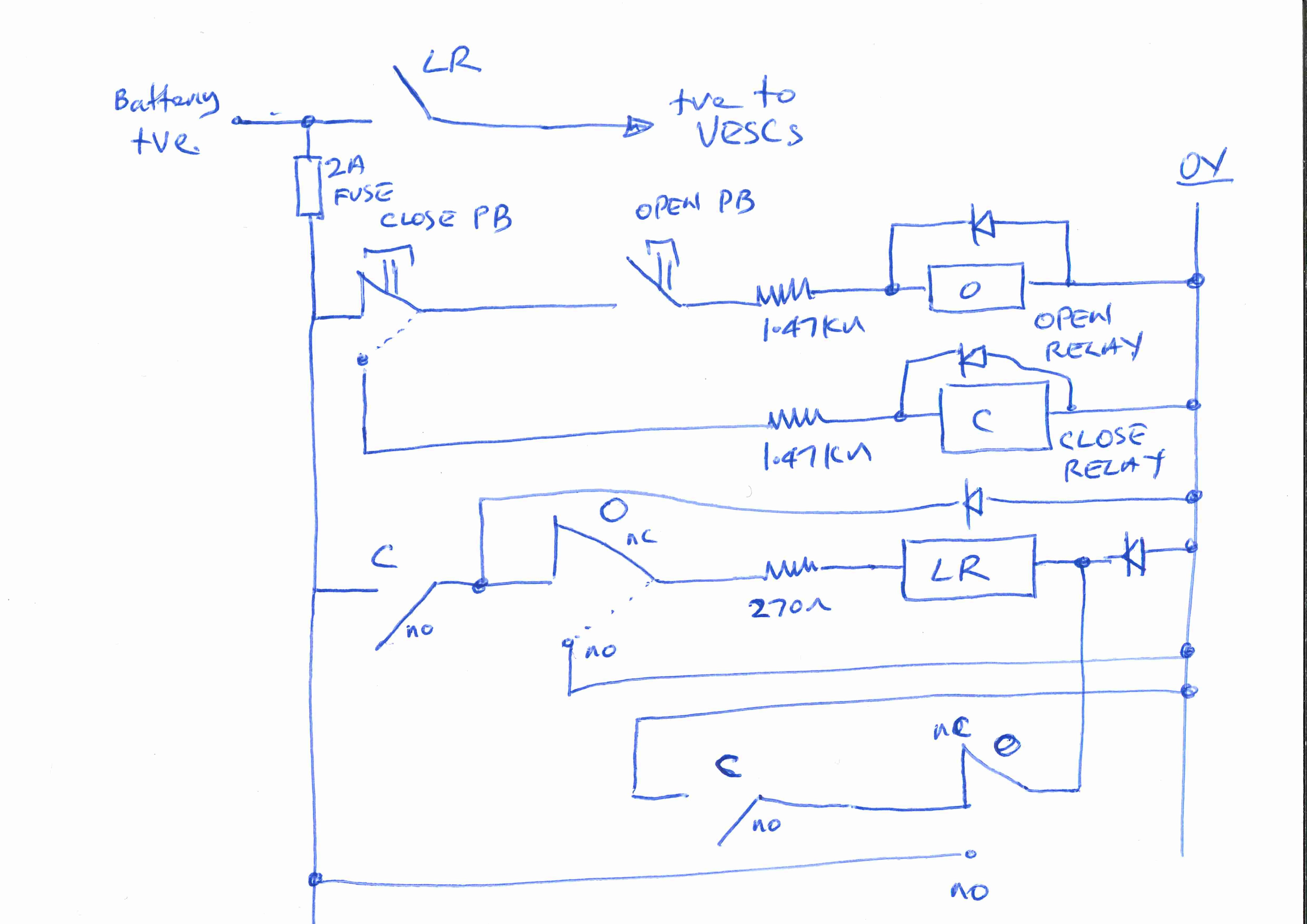 Latching Relay Based Main Switch  in lieu of electronic anti ...