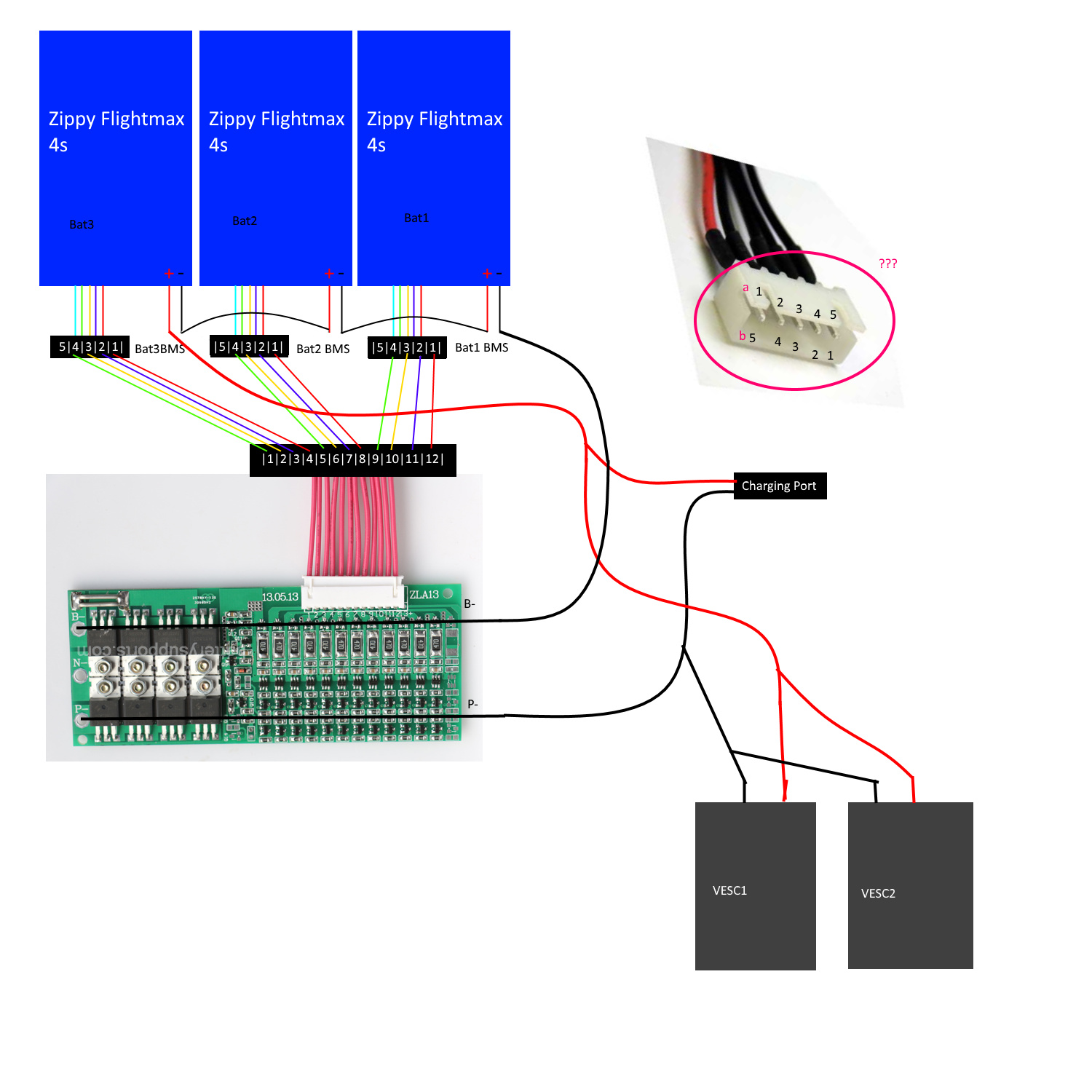 Wiring Up The Supower 12s Bms Esk8 Electronics Electric Skateboard Builders Forum Learn How To Build Your Own E Board